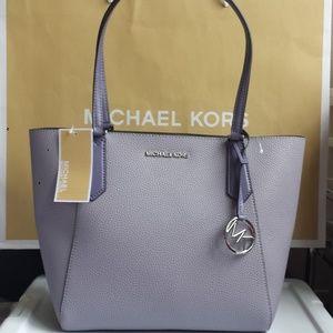 NWT Michael Kors Kimberly Small Bonded Tote Lilac
